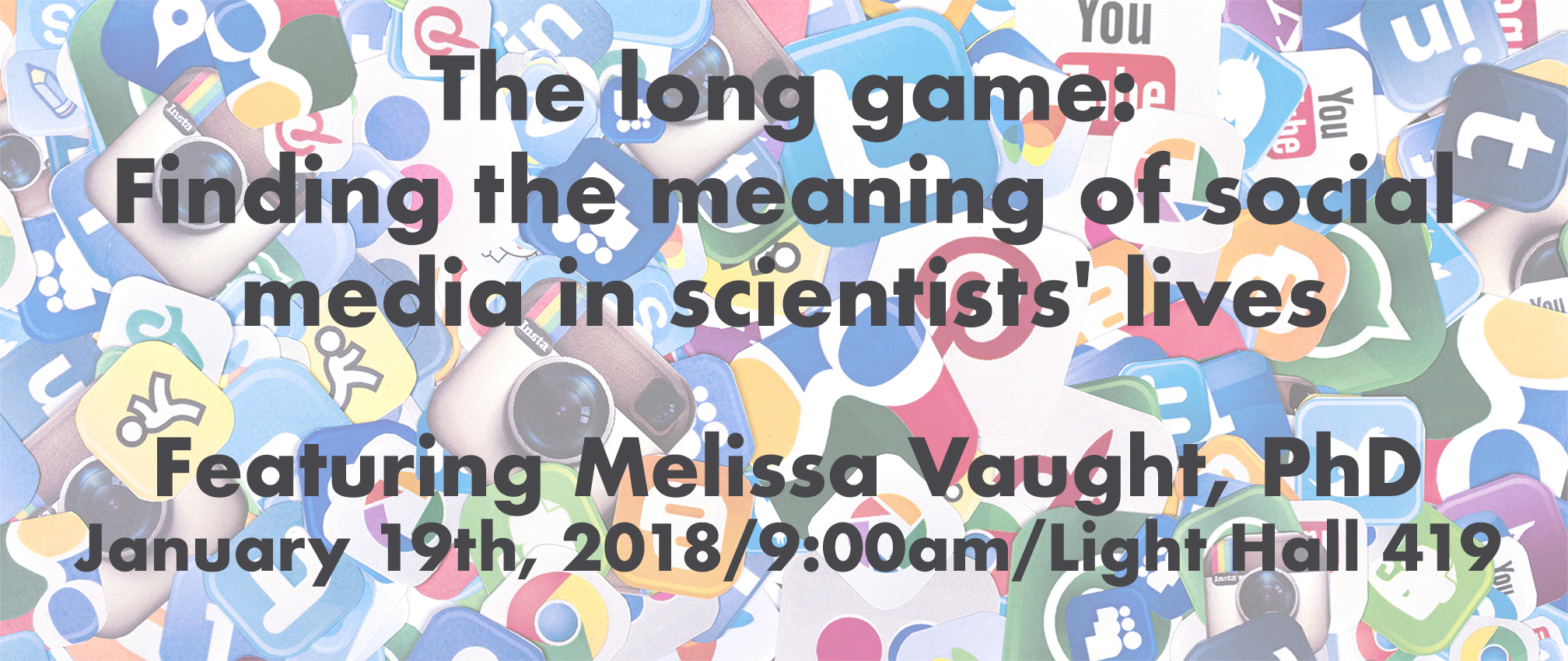 Seminar: The long game: finding the meaning of social media